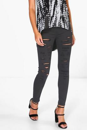 Julie Slash Leg Denim Jeggings