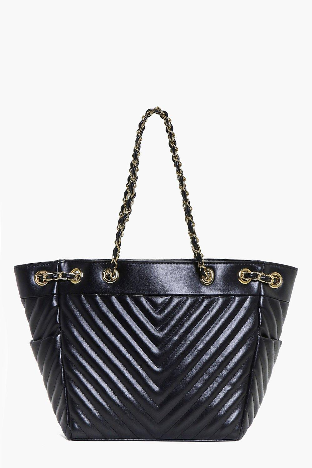 Kayla Chevron Stitch Quilted Day Bag