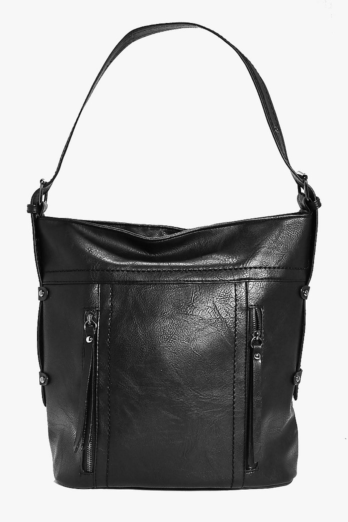 Leah Stud and Eyelet Detail Day Bag