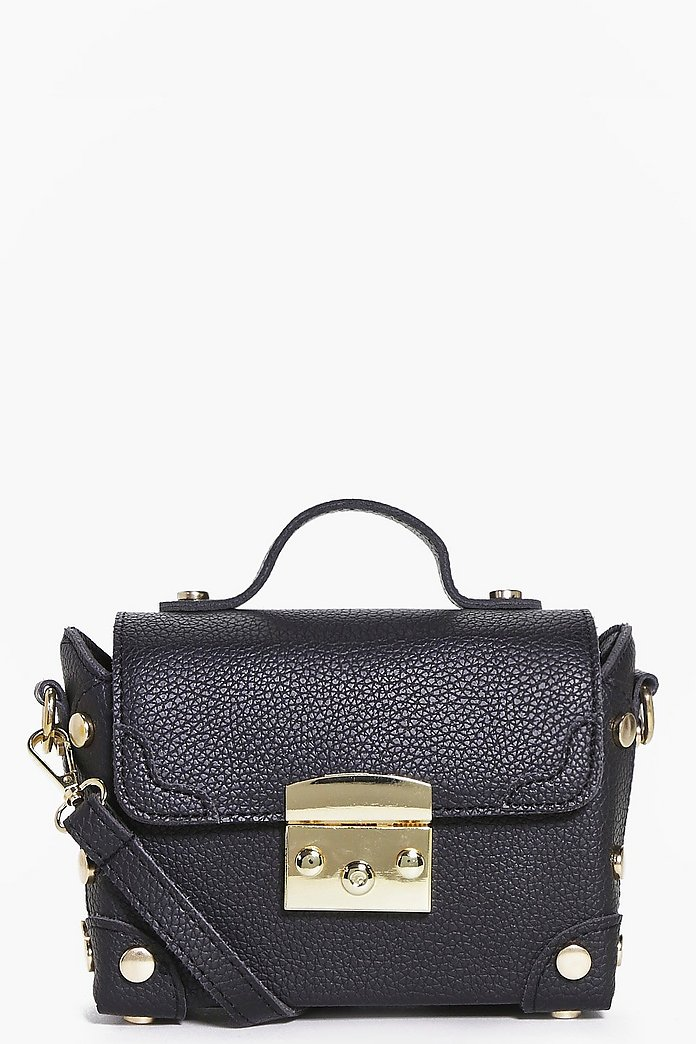 Rose Metal Detail Structured Cross Body Bag