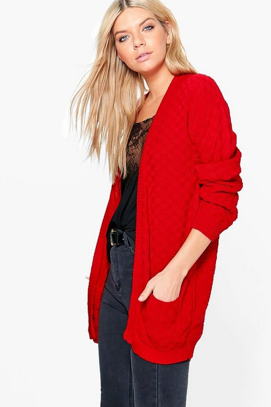 Paige Checkerboard Edge to Edge Cardigan