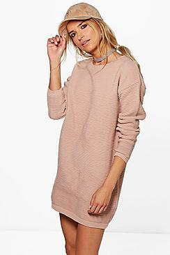 Charlotte Rib Knit Jumper Dress
