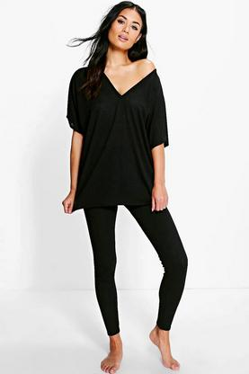 Olivia Oversized T-Shirt & Leggings Loungewear