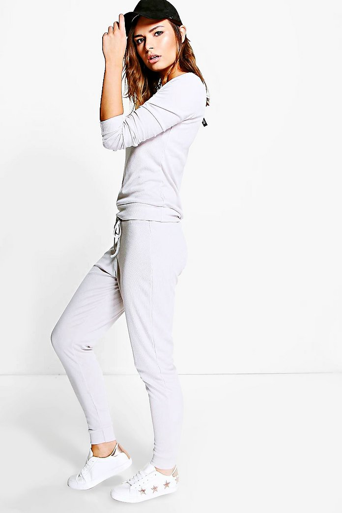 Lucy Rib Knit Jogger Loungewear Set