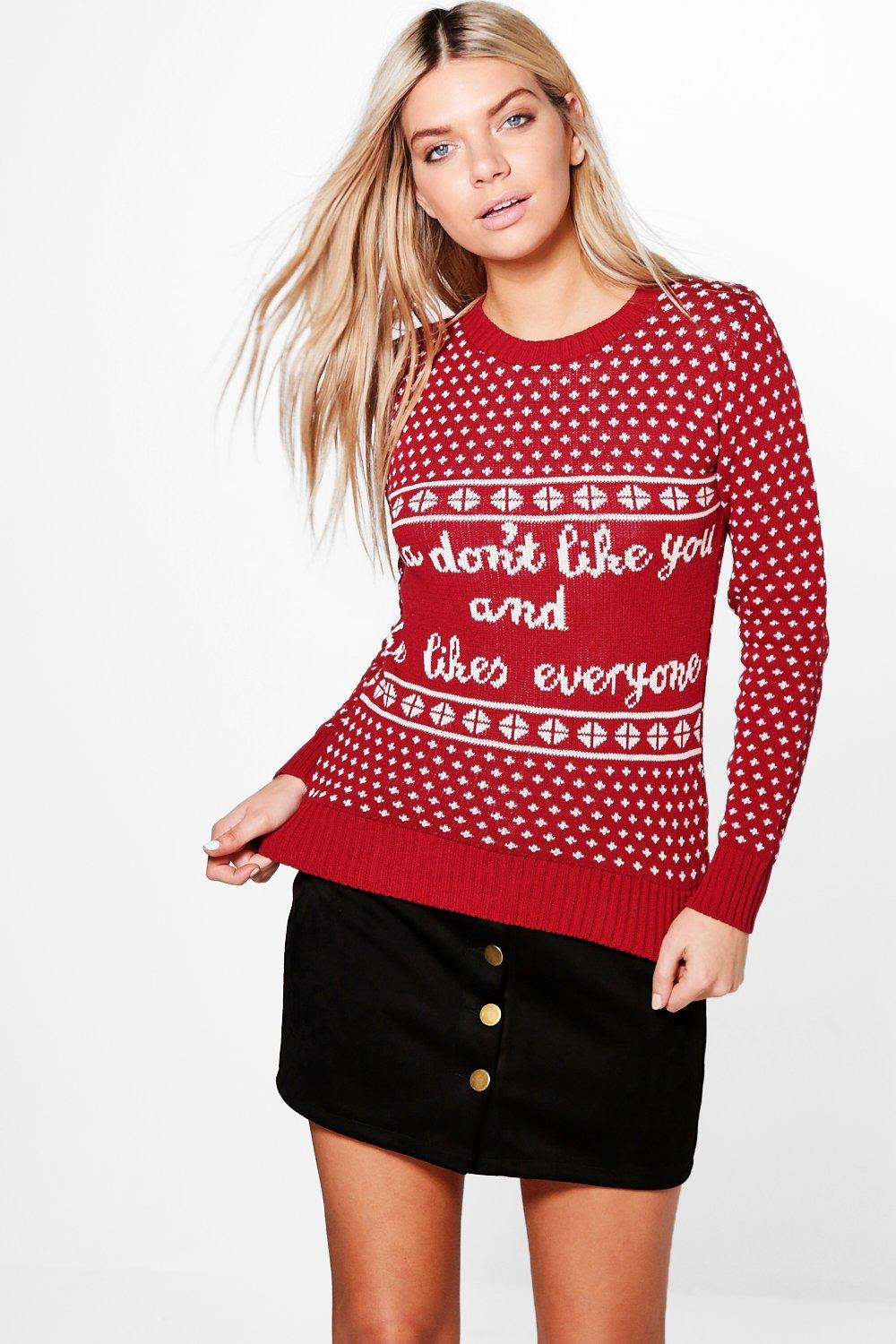 Darcy Santa Don't Like You Christmas Jumper