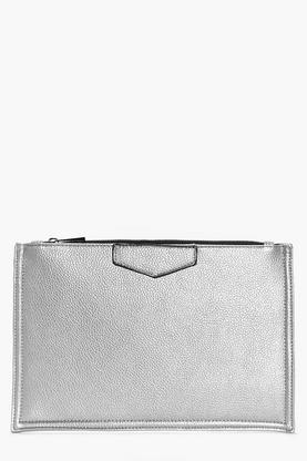 Faith Tab Detail Clutch Bag