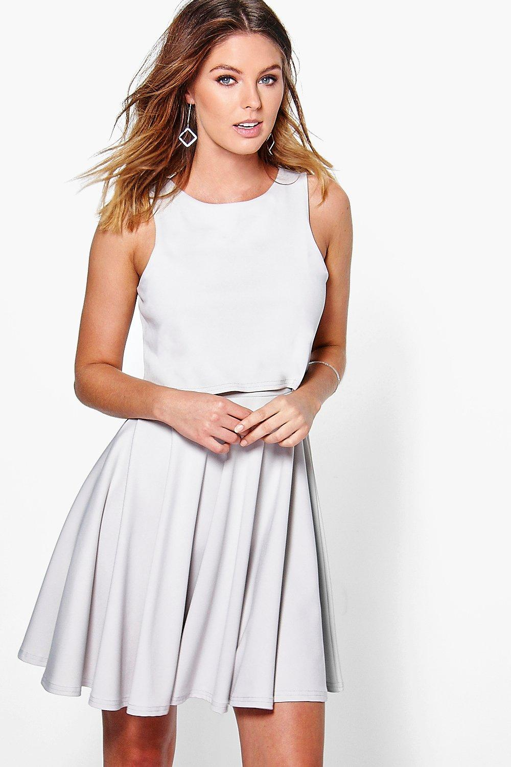 Cerys Double Layer Skater Dress