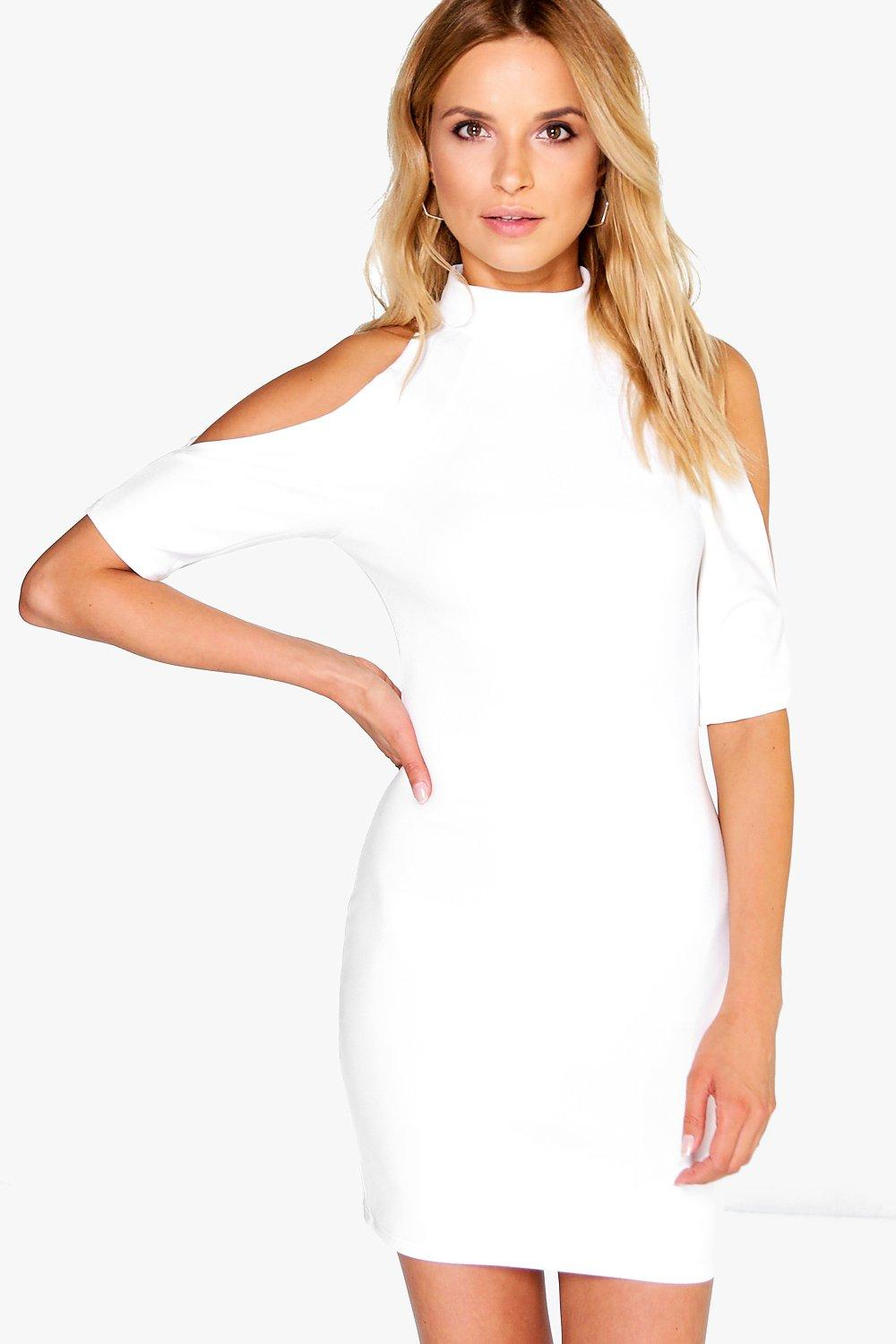 Liv Open Shoulder Bodycon Dress