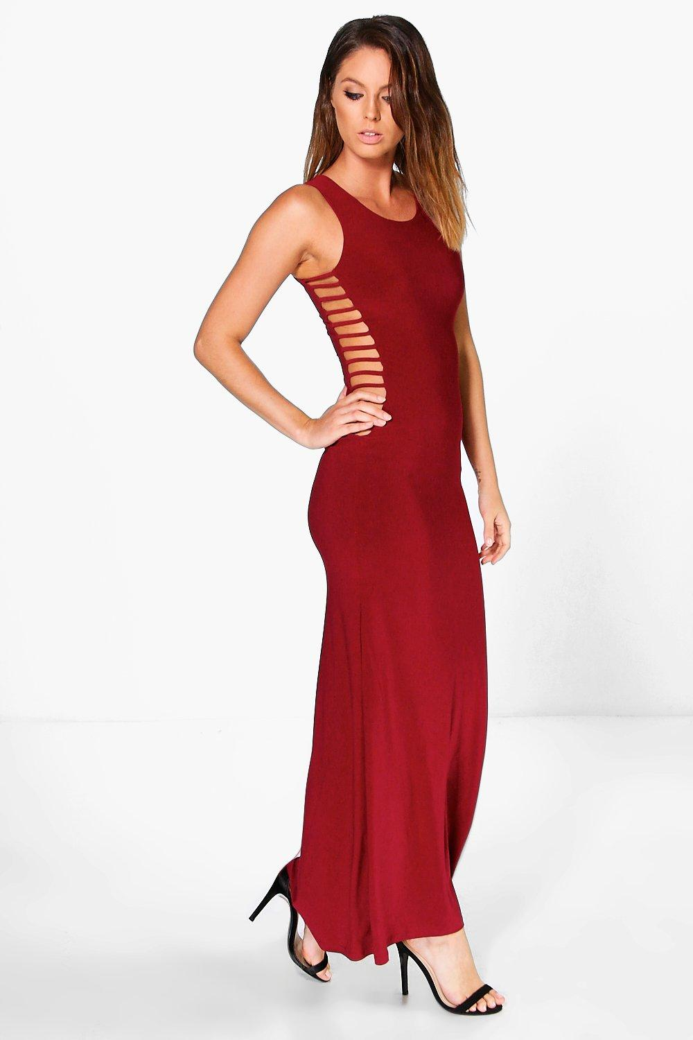 Zoe Ladder Detail Slinky Maxi Dress