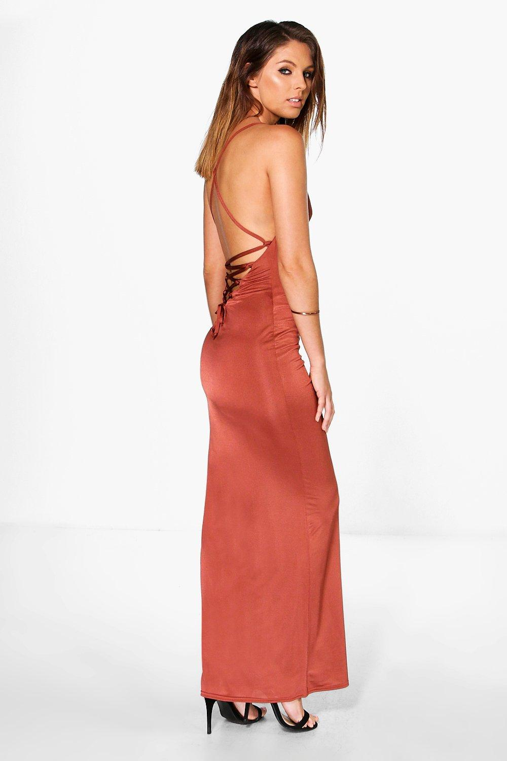 Lissandra Lace Back Strappy Maxi Dress