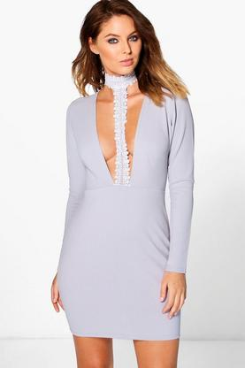 Evie Lace Choker Bodycon Dress