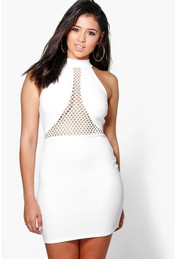 Ellie Mesh Insert Bodycon Dress