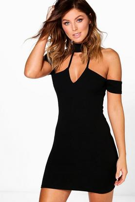 Katie Choker Strappy Bodycon Dress