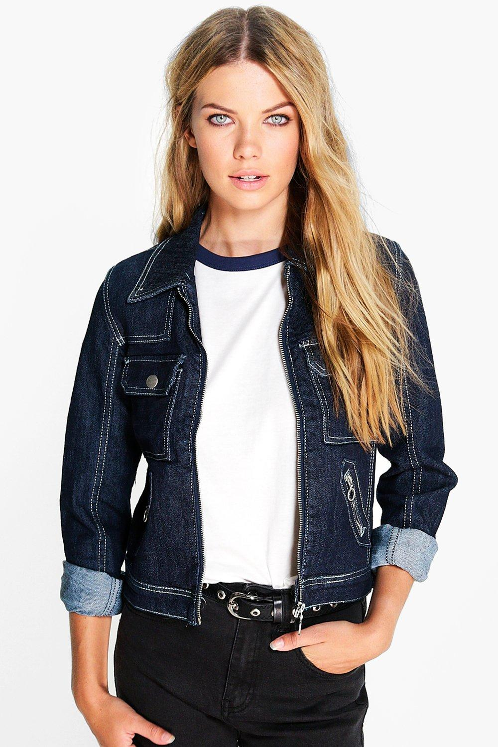 Louise Square Pocket Denim Jacket