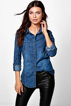 Lucy Stretch Slim Fit Denim Shirt