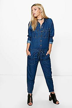 Sinead Denim Boiler Suit