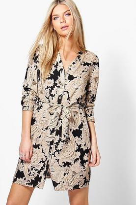 Ilka Paisley Shirt Dress