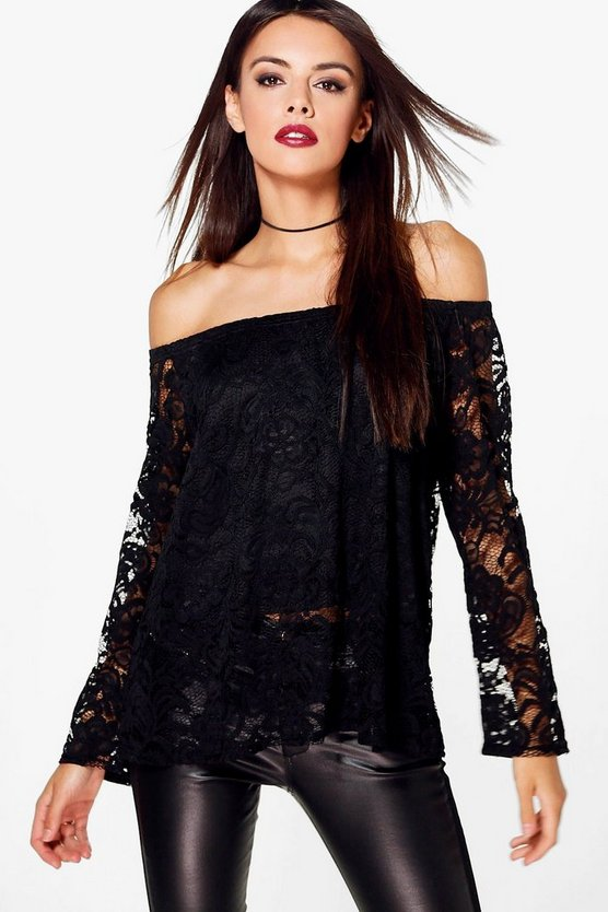 Alexia Lace Off The Shoulder Top