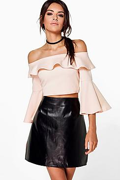 Ella Textured Full Sleeve Crop