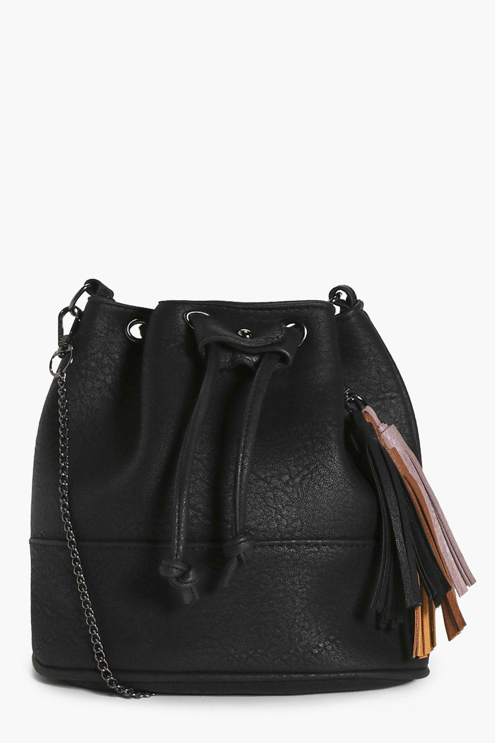 Lucy Tassel Duffle Cross Body Bag