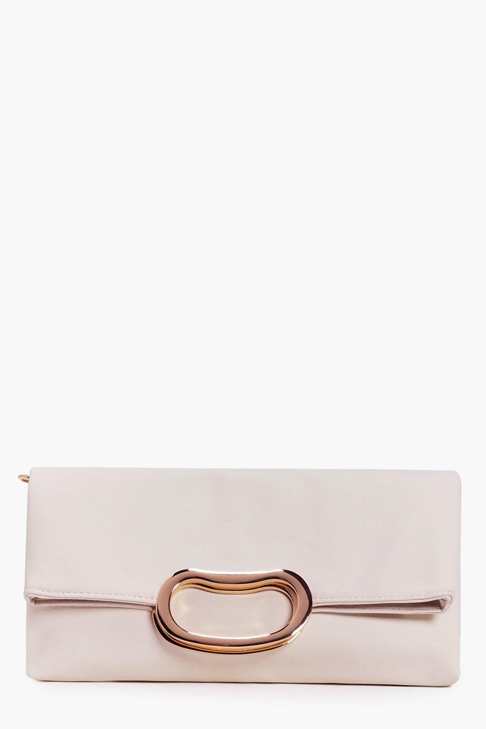 Libby Fold Over Metal Opening Clutch Bag
