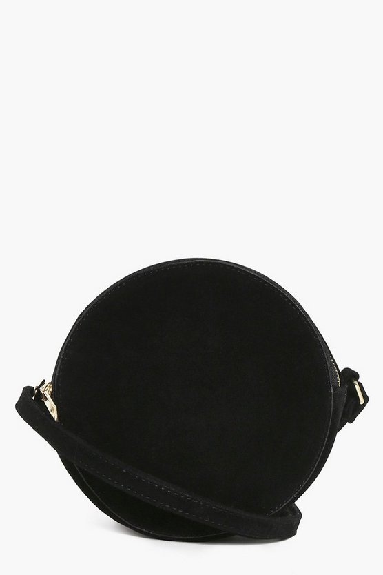 Tia Suedette Structured Round Cross Body Bag