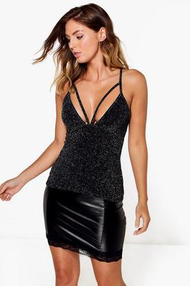 Eleanor Metallic Strappy Detail Cami