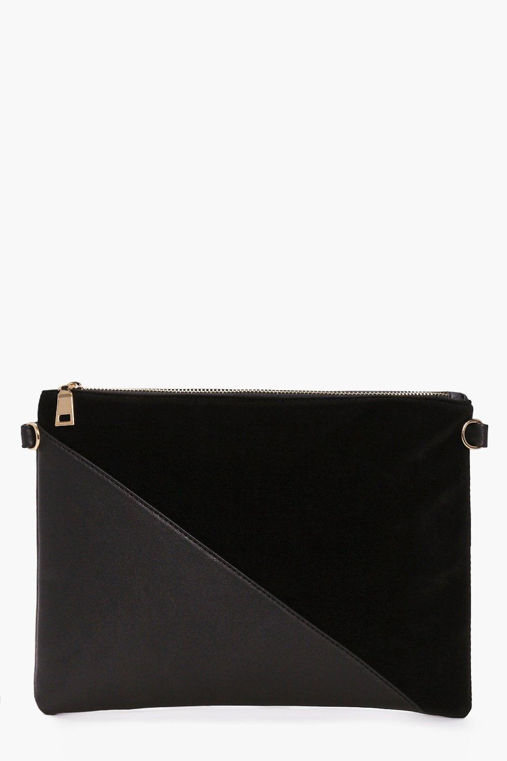 Olivia Contrast Panel Clutch Bag