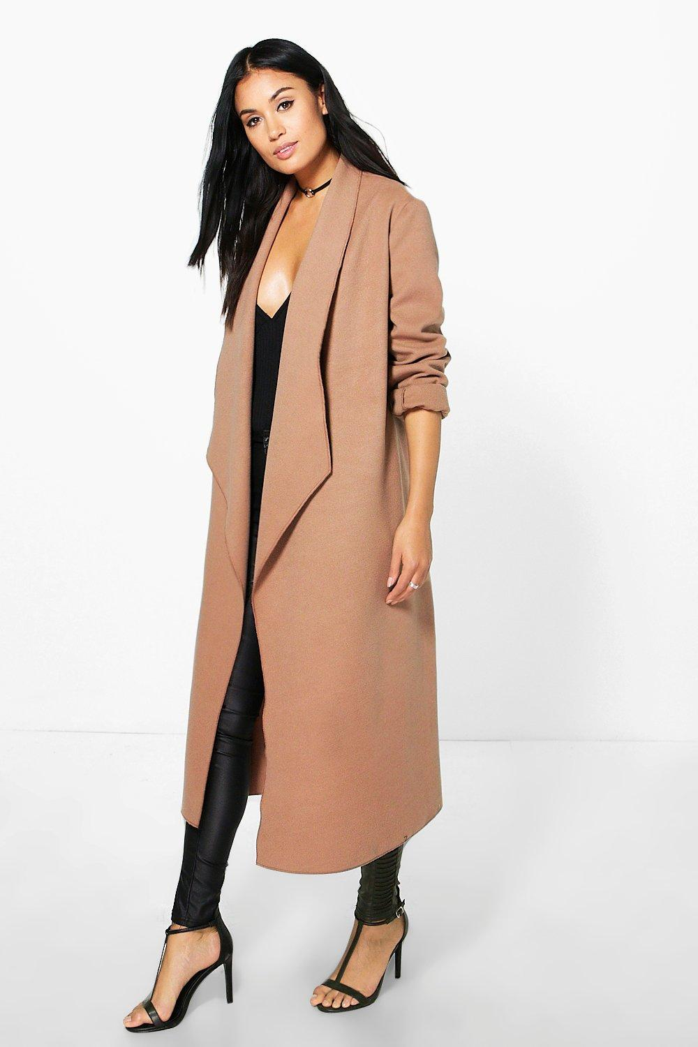 Freya Waterfall Wool Look Duster