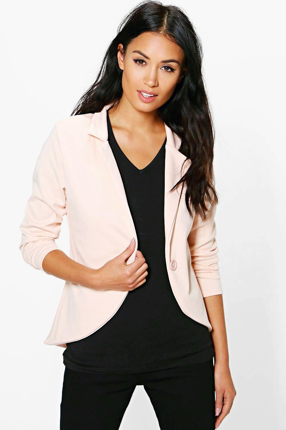 Sophia Astrid One Button Ponte Blazer