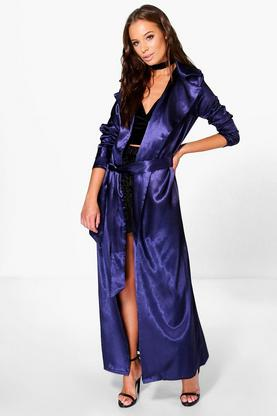 Holly Satin Belted Duster