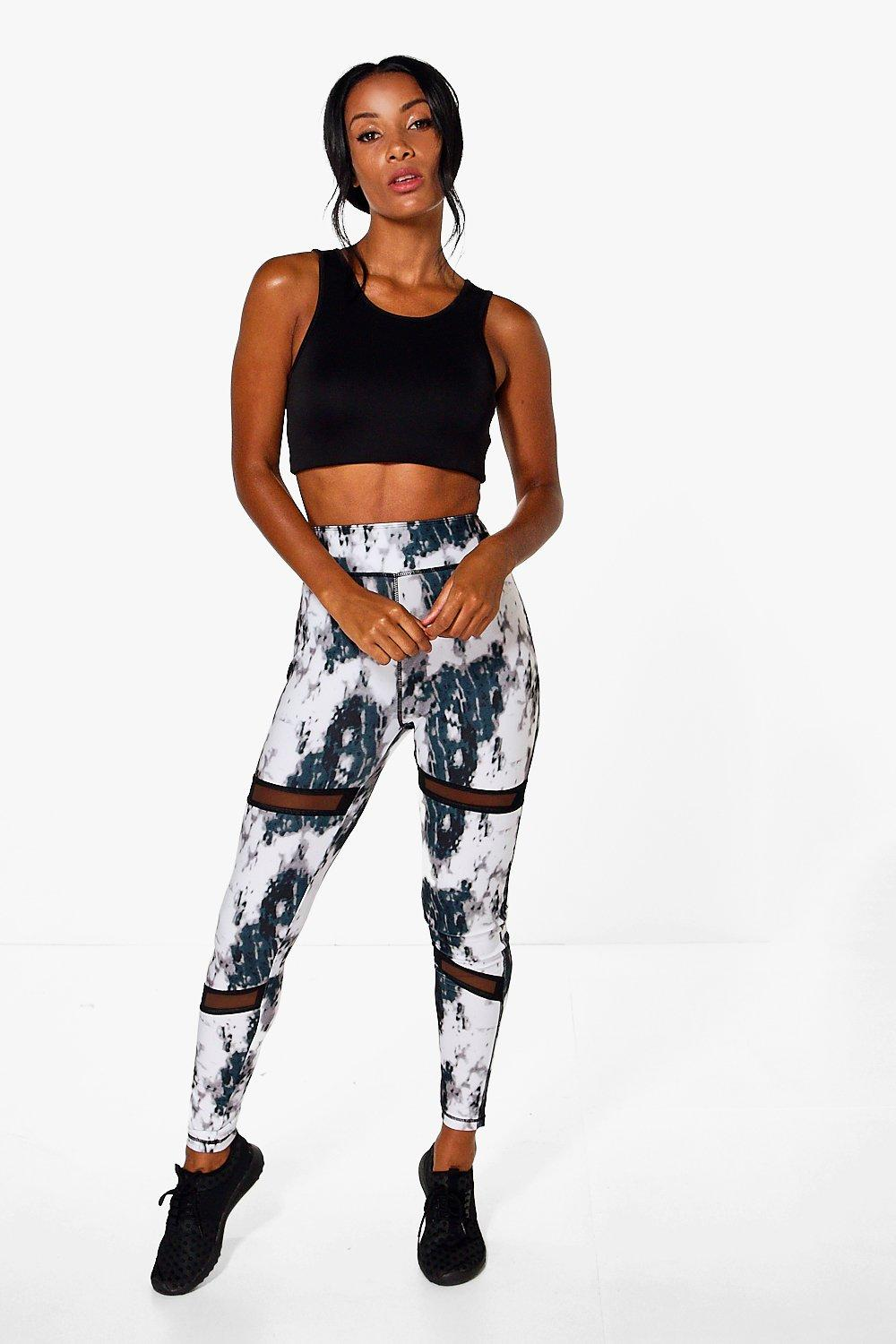 Zoe FIT Pixel Mesh Insert Running Legging white