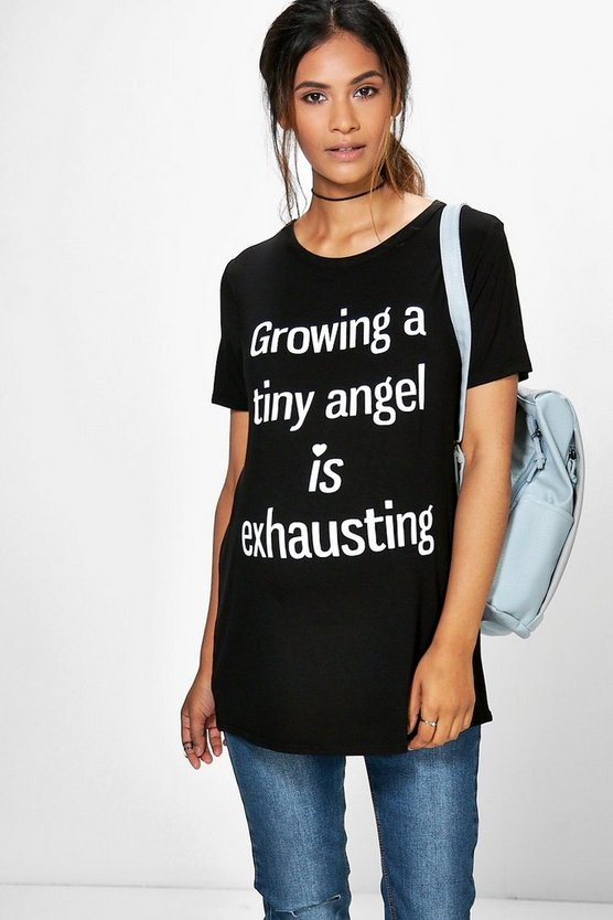 Maternity Katy Growing Tiny Humans Printed Tee