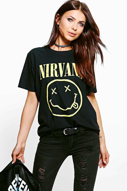 Nirvana Licence Print Band TShirt  black