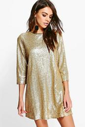 Sequin Dresses - Gold- Black and Colourful Sequin Dress