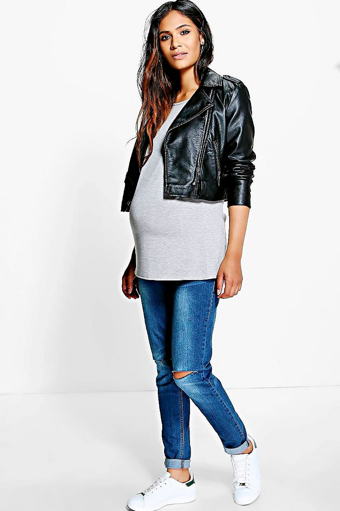 Maternity Grace Over The Bump Ripped Skinny Jean
