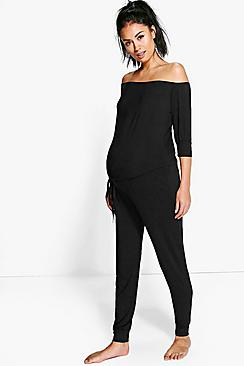 Maternity Ruby Off The Shoulder Jumpsuit