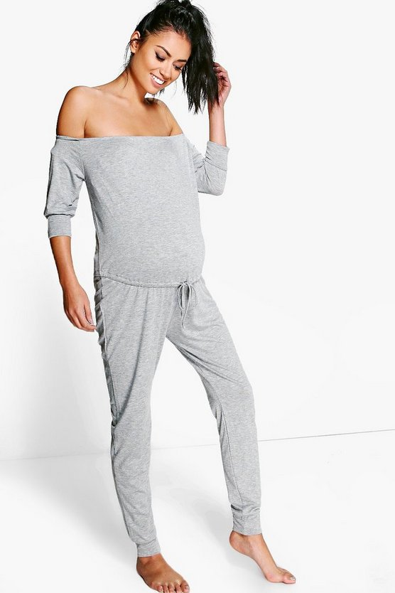 Maternity Ruby Off The Shoulder Lounge Jumpsuit