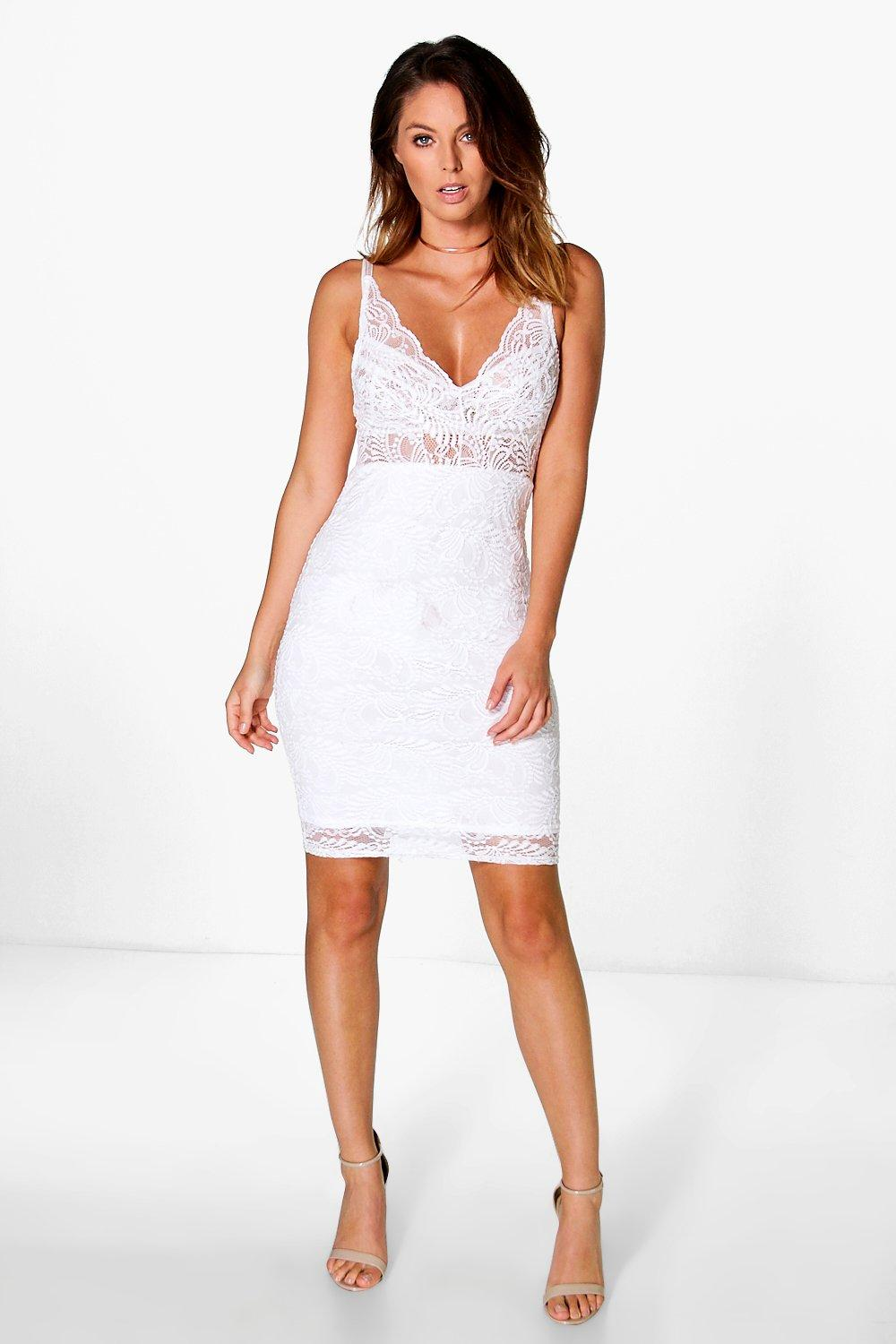 Grace Strappy Lace Bodycon Dress