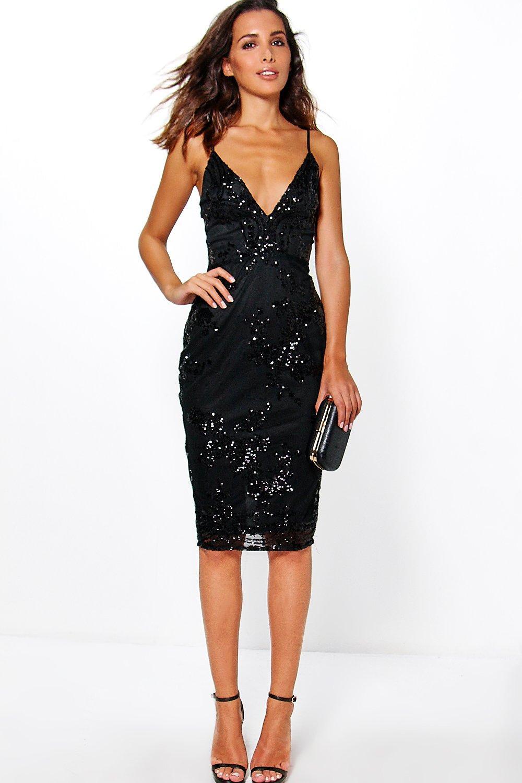Black Sequin Dress Shoes Womens