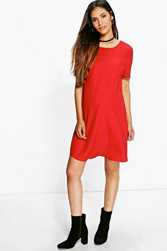 Maternity Katie Woven Short Sleeve Shift Dress