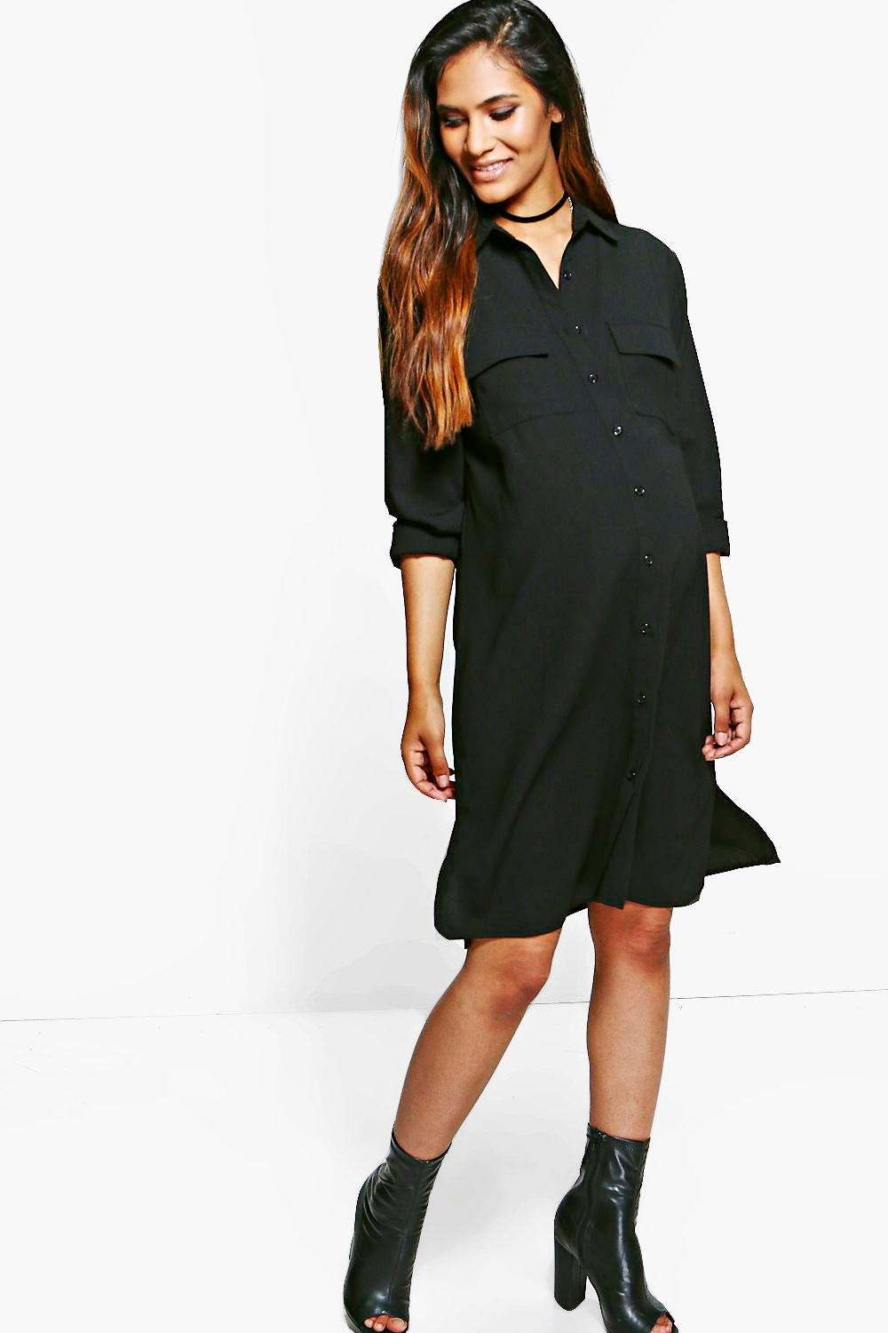 Maternity Jessica Crepe Shirt Dress