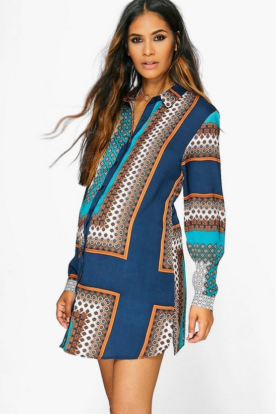 Maternity Amy Paisley Print Shirt Dress