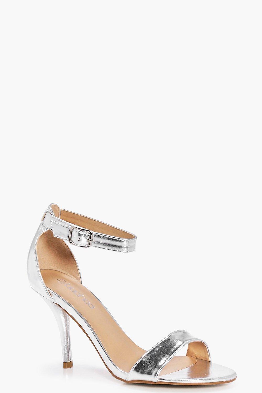 Faye Metallic Mid Heel Two Part Heels