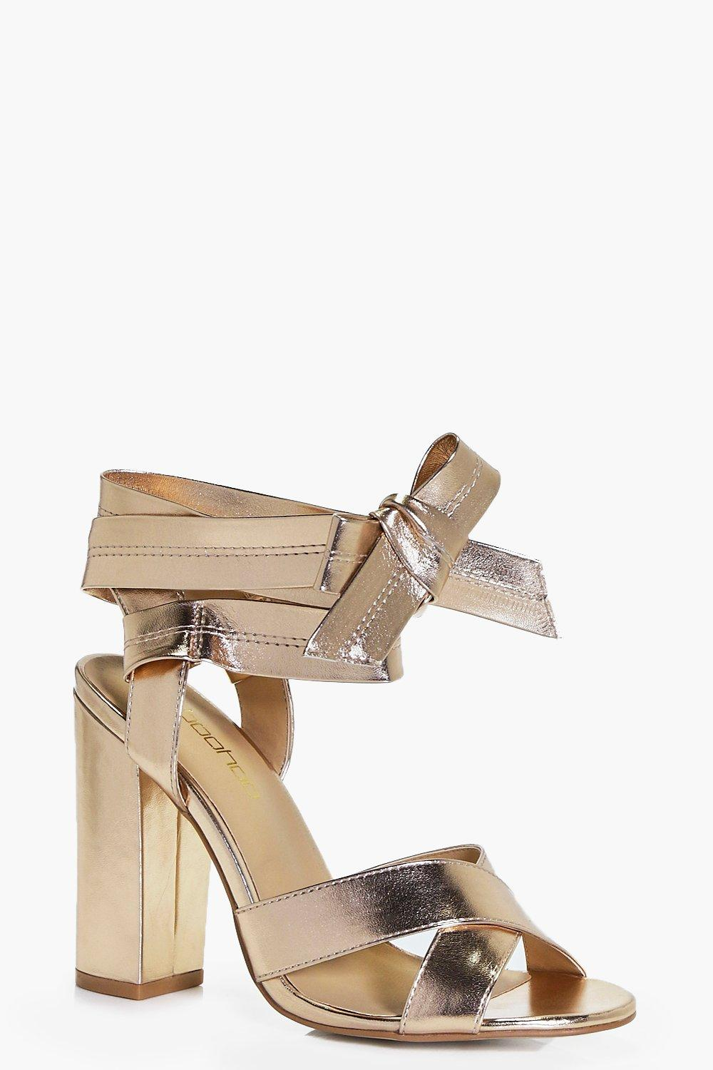 Lena Wide Fit Wrap Strap Heels