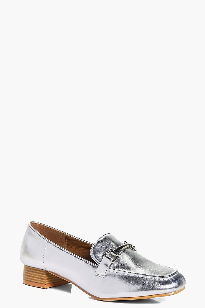 Lucy Metallic Trim Loafer Flat