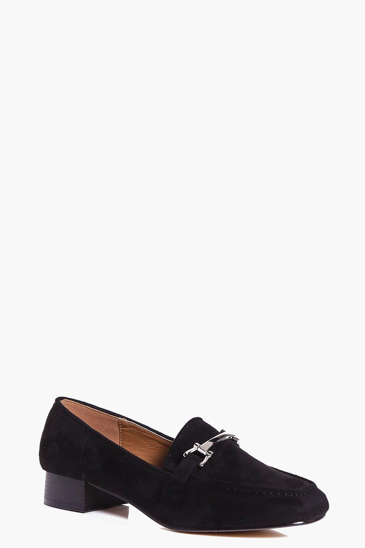 Metallic Trim Loafer Flat black