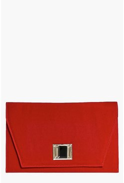 Julia Velvet Jewel Lock Clutch Bag