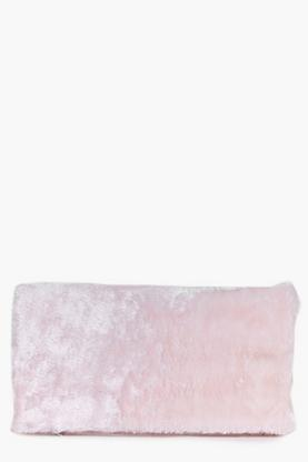 Esme Faux Fur Fold Over Clutch Bag