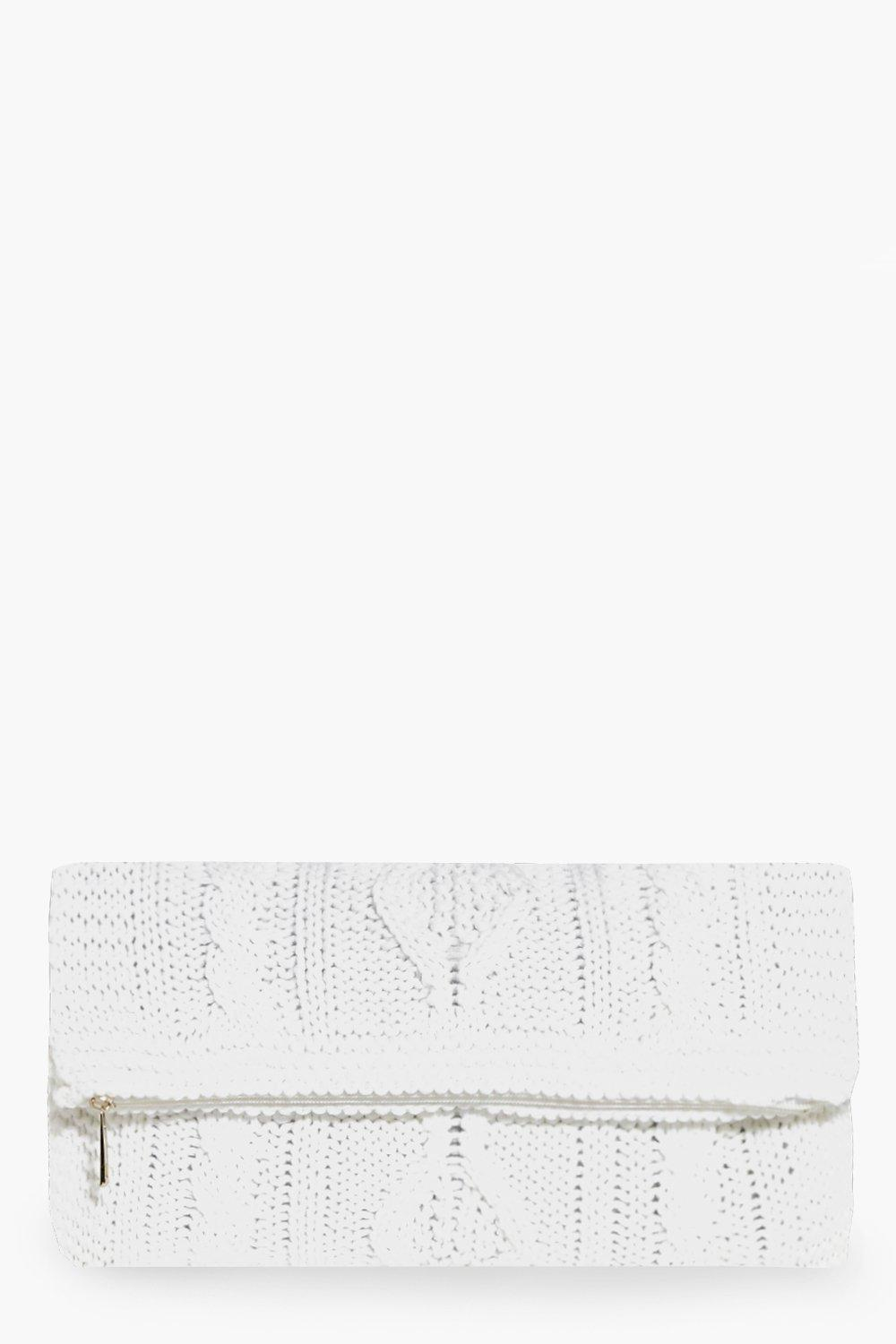 Lydia Knitted Fold Over Clutch